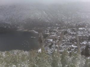 San Martín de los Andes vista desde el mirador.